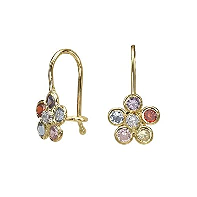 1a868ba97 Image Unavailable. Image not available for. Color: 14K Solid Yellow Gold  Eliptical Hoop Earrings ...