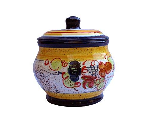 Storage Jar - 1.5 Quarts - Hand Painted in Spain - Splash! Design by Cactus Canyon Ceramics