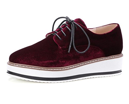 Damenschuhe Schuhe Freizeitschuhe Herbst Student Frau Aufzug Schuhe laufen violett, rot
