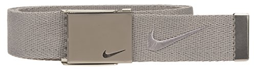 Nike Men's Embroidered Swoosh Web Belt, charcoal,