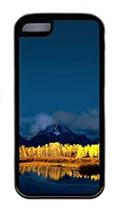 iPhone 5C Case Mount Moran Grand Tetons Wyoming TPU iPhone 5C Case Cover Black