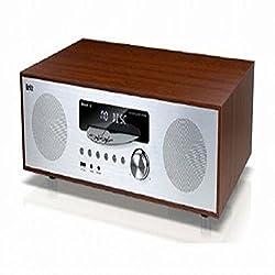 Britz BZ-T8300 Bluetooth Wireless All in One CD Micro Audio, Speaker, Wooden, Radio, Clock, Alarm LED Display