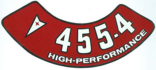 1971 1972 1973 1974 1975 1976 Pontiac 455-4V High Performance Engines Air Cleaner Decal For Firebird, Formula, GTO, Bonneville, LeMans, Grand Prix, Catalina, Grandvill, - Pontiac Bonneville 1974