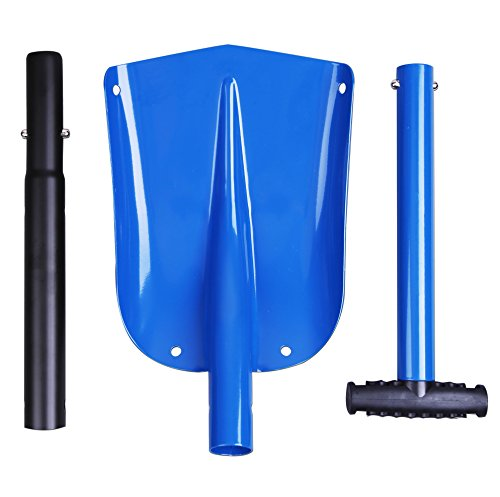 Cartman Sport Utility Scalable Camping Snow Shovel for Car, Portable Aluminium Shovel, Snow Shovel (Blue)