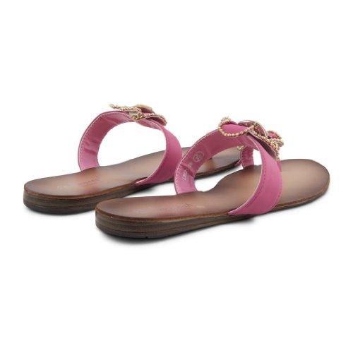 Footwear Sensation - Zapatillas de estar por casa de sintético para mujer rosa - fucsia