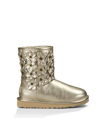UGG Kids Girl's Classic Short Flora (Big Kid) Soft for sale  Delivered anywhere in USA