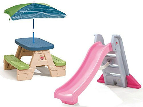 step2-big-folding-slide-and-step2-sit-and-play-picnic-table-with-umbrella
