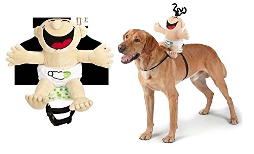 Giggling Baby Saddle Harness Dog Costume Cutest Infant That Rides Pets & (Cutest Dog Costume)