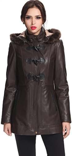 BGSD Women's Amanda Lambskin Leather Coat (Regular and Plus Size and Short)