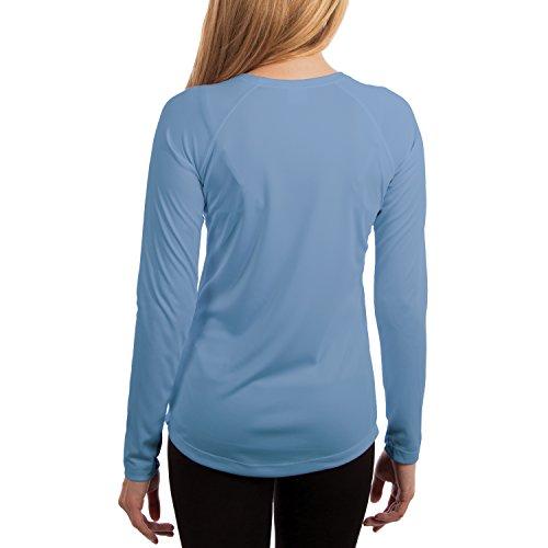 Vapor Apparel Women's UPF 50+ UV/Sun Protection Long Sleeve T-Shirt Medium Columbia Blue
