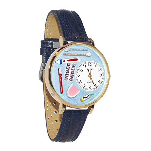 Whimsical Watches Unisex G0620001 Dentist Blue Leather Watch