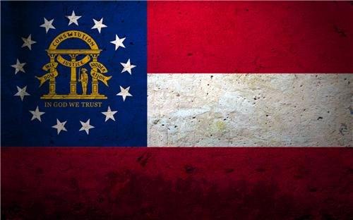 (GEORGIA STATE FLAG GLOSSY POSTER PICTURE PHOTO atlanta peach united atl usa)