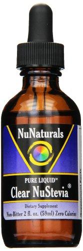 NuNaturals Nustevia Ясно Стевия Стеклянная бутылка жидкости, 2-Унция