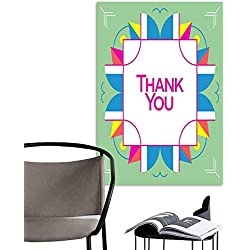 Art PaintingsHome DecorationsThank you greeting card thanksgiving design Abstract geometric elements Layout template card invitation brochure flyer cover Elegant frame and geometrical linear pattern