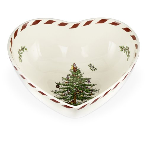 (Spode Christmas Tree Peppermint Heart Bowl, 8-Inch)