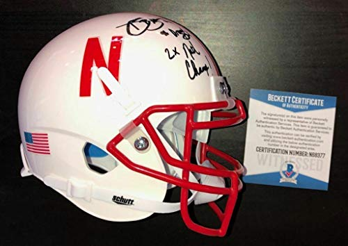 Damon Benning Signed Nebraska Cornhuskers Mini Helmet Beckett Witness Coa - Beckett Authentication