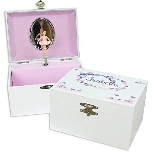 (Personalized Lacey Bow Ballerina Jewelry Box)