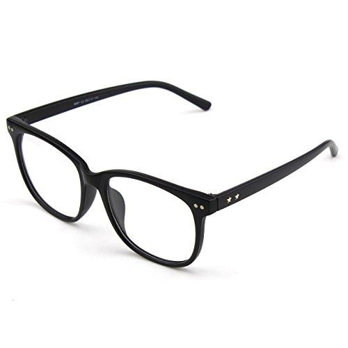 Matte transparentes Black cadre GQUEEN surdimensionné Grand PE1 corne clair lunettes 8R8Yqw