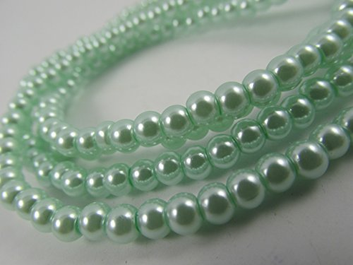 Glass Pearl Finish Round Large Big Beads Sea Green Mint Light Green for Handmade Jewerly Necklace Bracelet Beading Supplies faux pearls TOP quality C41 (14mm)