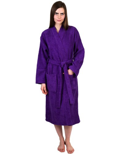 TowelSelections Women's Robe Turkish Cotton Terry Kimono Bathrobe X-Large/XX-Large Royal Lilac