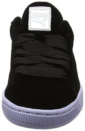 Basses Puma black Femme Noir Vr icelandicblue Classic Velour Sneakers Basket pOx7OfqwX