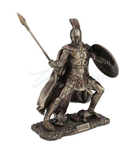 - Hector, Trojan Prince In The Trojan War, Cold Cast Bronze, 9 1/8 Tall