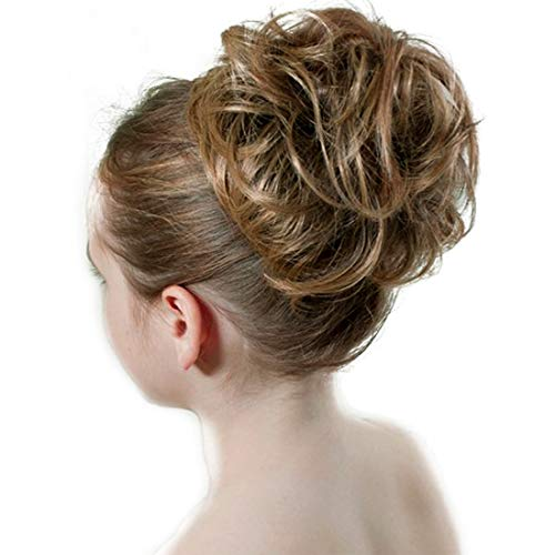 - Dodoing Curly Messy Hair Bun Extension Ponytail Hairpiece Hair Extensions Donut Hair Chignons Hair Piece Wig 31 Colors