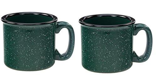 Santa Fe Campfire Coffee & Tea Mug Perfect For Camping or Home, Green 15oz (Pack of (Green Stoneware Mug)