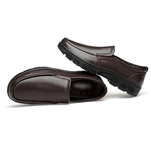 Affaires Homme Cuir Lacet Faux Mocassins Sans Chaussure Yiiquan Chaussures 1 Décontractée Ville Marron Sq16vnd