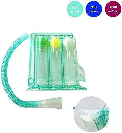 WSN Ejercitador pulmonar respiratorio Espirómetro de incentivo de 3 Bolas Rehabilitación quirúrgica Verde