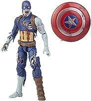 Marvel Legends Series Figura de 15 cm com Acessório - Zombie Captain America - F0330 - Hasbro