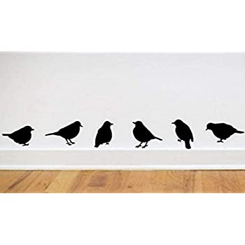 Inverlee DIY Flying Birds Art Wall Stickers Vinyl Removable Decals Mural Home Room Decor (A)  sc 1 st  Amazon.com & Amazon.com: Flock of Birds wall decal sticker: Home u0026 Kitchen