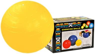 CanDo Inflatable Ball, Yellow, 45 cm, 18 Inch, Boxed