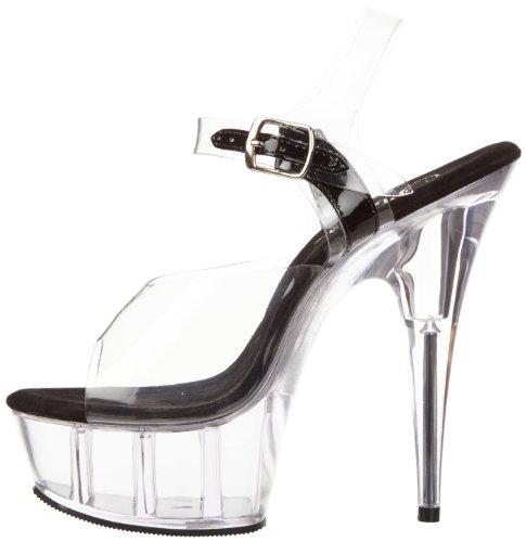 Black Pleaser Talla 608 Color 42 Delight Mujer Para Sandalias rAnACPFYqw