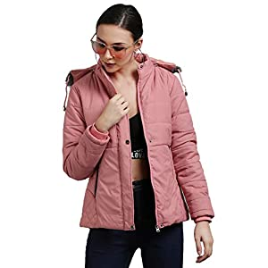 CLASSIO FASHION Women's Nylon Full-Sleeved Winter Jacket with Hood