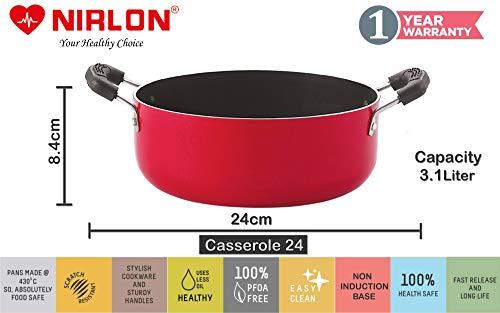 Nirlon-Kitchenware-Nonstick-Cookware-Set-Aluminium-Red-BlackPremium-Quality-Export-Quality-Gift-Set-CS26AP12CS24