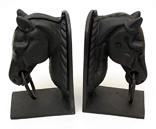 RDJLife Products Cast Iron Horse Head Bookend