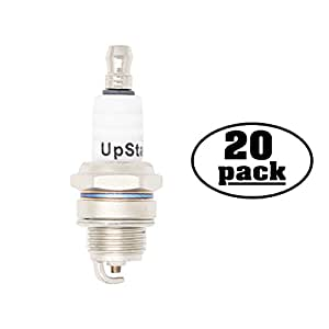 20-Pack Compatible Spark Plug for STIHL Chain Saw MS440 Magnum, MS440 Magnum Arctic, MS441 Magnum, MS441C-M Magnum - Compatible Champion RCJ7Y & NGK BPMR6F Spark Plugs