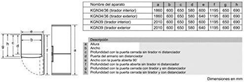Bosch KGN39XI32 Independiente 355L A++ Acero inoxidable nevera y ...