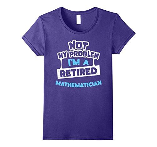 Womens Retirement Gift Idea for Mathematicians T-Shirt Medium Purple