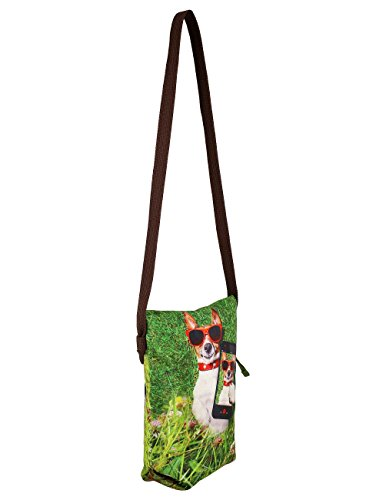Digital Gedruckt, Hund Gesicht, Tierischen Stachel-Beutel, 8X10X2.5 Zoll, Polyester, Greenast01-12