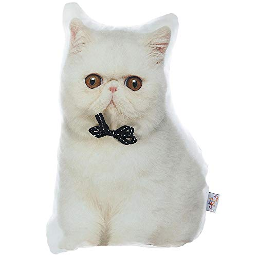 Apolena Animal Shaped Decorative Pet Filled Throw Pillow, Cats Dogs, Persian Cat
