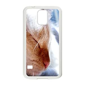 Vety Cat Samsung Galaxy S5 Cases the Cat, Cat [White]