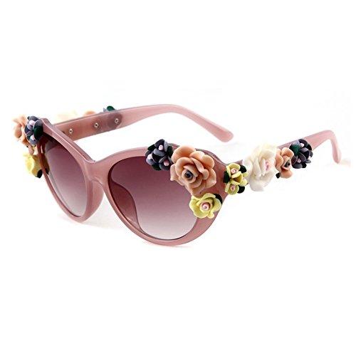 Smile Tomorrow Lady Retro Rose Flowers Decoration Summer Beach - & Rose Sunglasses Summer