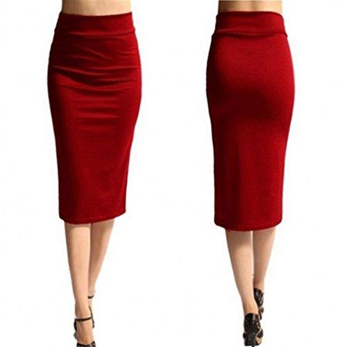 Meolin Women's High Waist Bodycon Midi Pencil Skirt Office Ladies Skirt