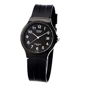 Classic Mens Crystal Watch Color: Black. Casio