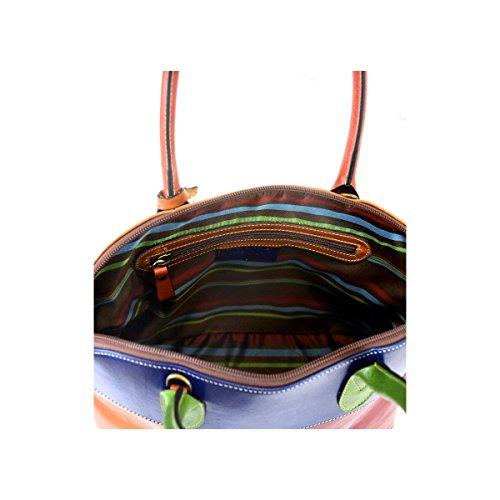 Borsa Donna A Mano In Pelle Conciata Al Vegetale Colore Multicolor - Pelletteria Toscana Made In Italy - Linea Prestige Colecciones En Línea Barato 5F6Pl29E3B