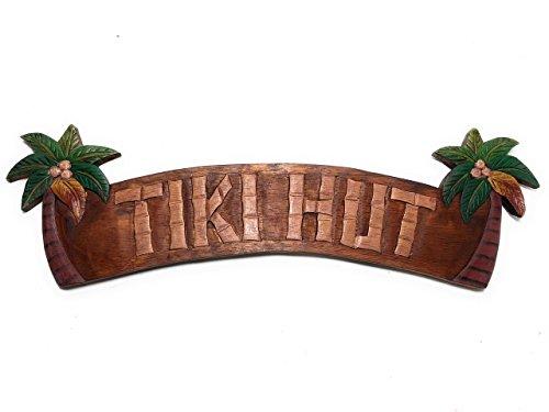 Tiki Hut Sign w/Palm Trees 22