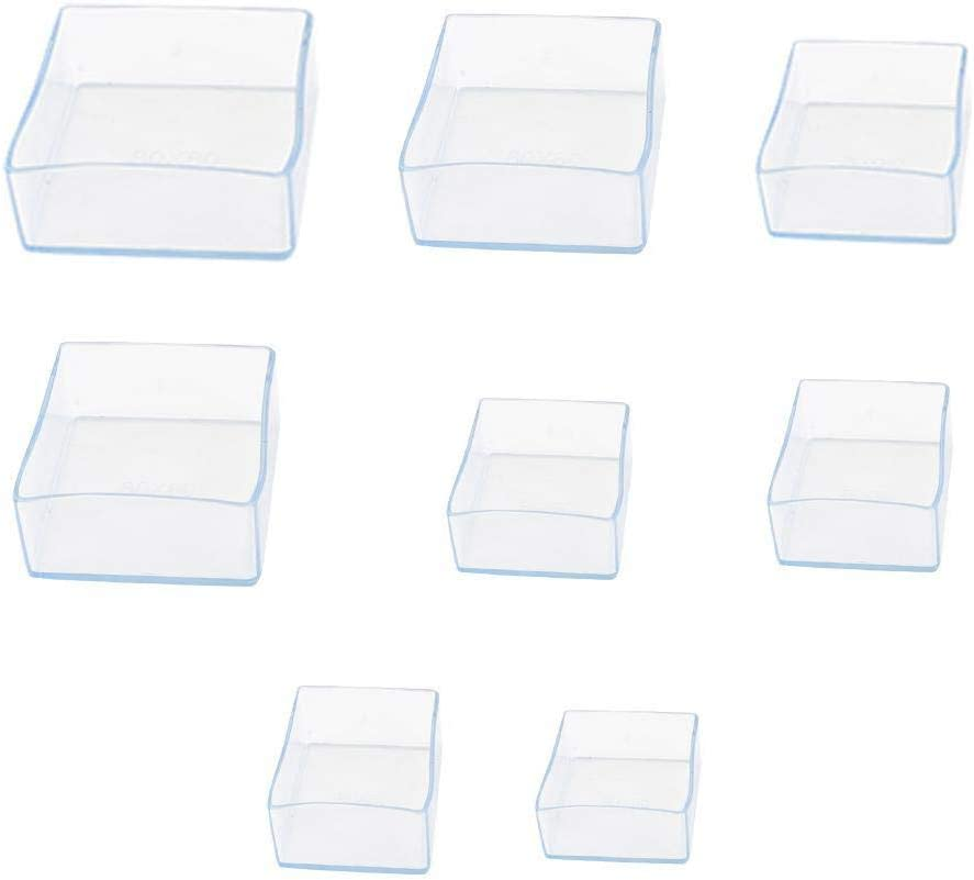 ADHG 4 Pezzi Tappi per Gambe Sedia Trasparenti mobili Antiscivolo Tavolo Piedi Piedi Copertura Protezioni Tappi Tappi mobili in Gomma Decorazioni per la casa