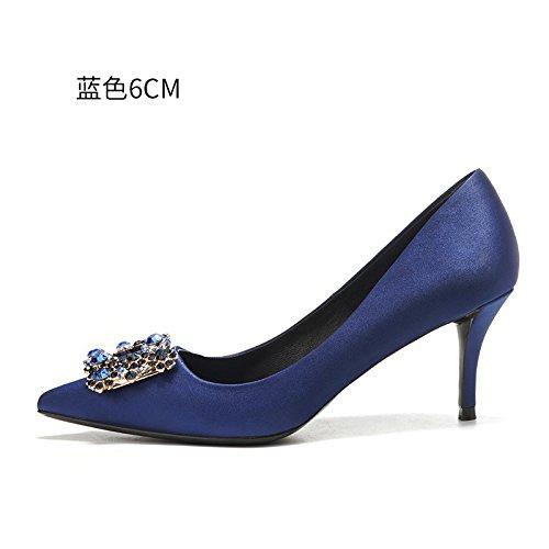 HUAIHAIZ Escarpins femme Talons hauts Les chaussures à haut talon femelle rouge robe de mariée chaussures de mariage femmes chaussures de soirée The blue 6CM 9fzjIivf